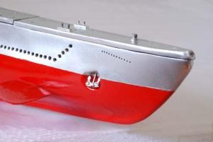 Submarino de radio control detalle del ancla