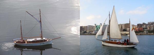 Los dos Bon Temps, a la iquierda el modelo de Lázaro en la Habana, a la derecha el original en España