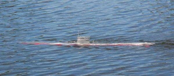 U-Boat navegando