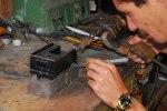 Roberto trabajando