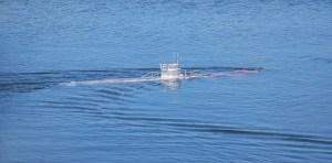 El submarino se movia tratando de escapar
