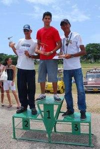 Ismael en el 1er lugar, Meykel 2do lugar y Misael 3ro