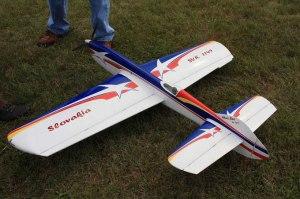 Avion del actual campion del mundo, el checo Igor Burger es también eléctrico