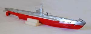 Submarino artesanal navegable de radio control