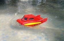 HPIM4537 Lancha de cuerda navegando