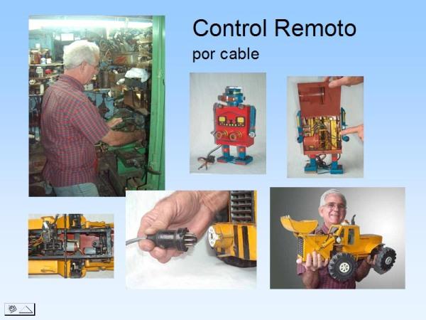 Robot y tractor con pala mecánica control remoto por  cable