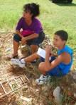 Miguel y su mamá en el Parque Lenin el 11 de agosto de 2013