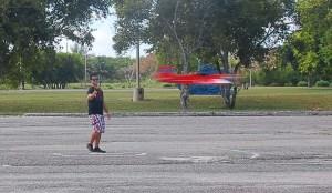 Raudel Reinoso realizó sus vuelos de entrenamiento