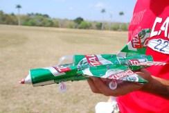 MIG-21 hecho con lata de cerveza