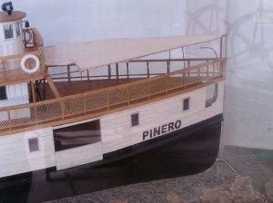 Vista de la proa del Pinero