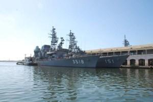 Visita destacamento naval de las fuerzas de Autodefensas del Japón