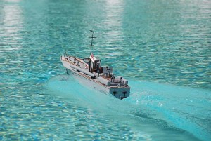 Vosper torpedo boat 70 ft scale 1:30 scratchbuilt by Wildy