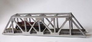 Puente ferroviario en plástico escala 1:87