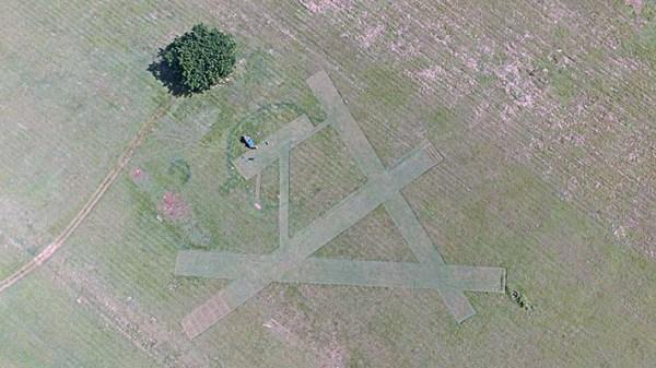 La pista del Parque Lenin vista desde un drone. Foto de Marcos hecha en otra ocasión cedida por cortesía de Misael