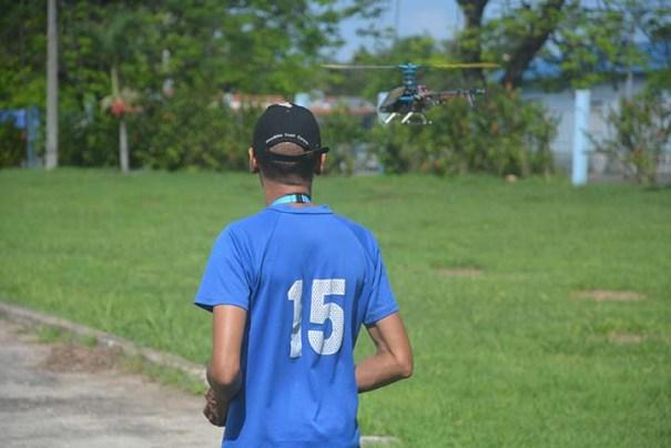 Helicópteros de radio control en la Ciudad Deportiva