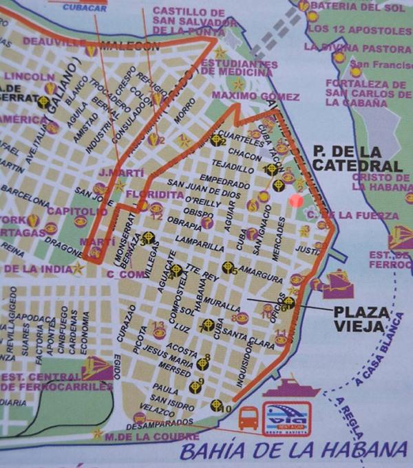 Plano Habana marcando Museo de Arqueologia.jpg