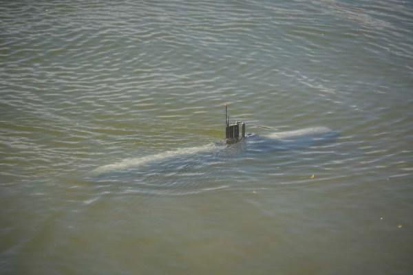 El submarino en inmersión