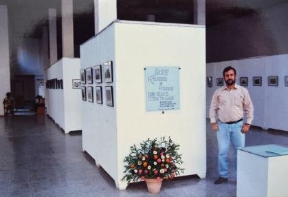 """Wildy durante la expo """"Reliquias de Hierro"""" en Holguin"""