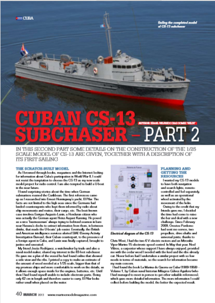CS 13 Cuban Subchaser