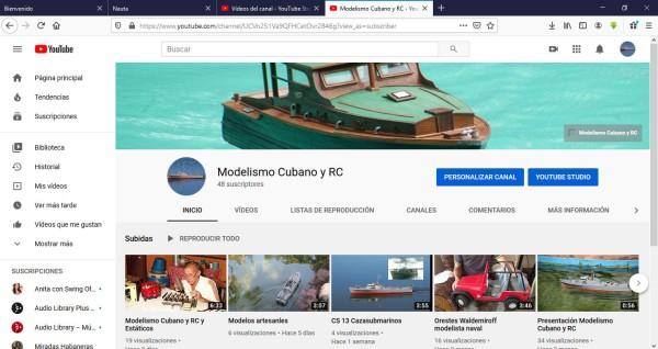 Canal Modelismo Cubano y RC en Youtube